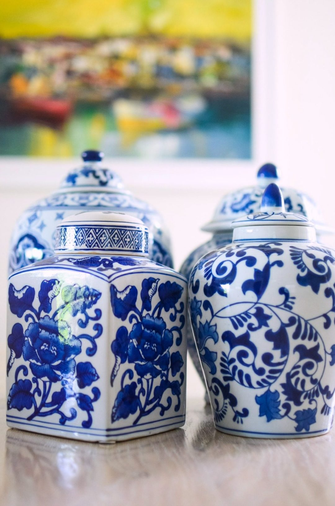 Blue Ginger Jars decor _ Best Home Decor