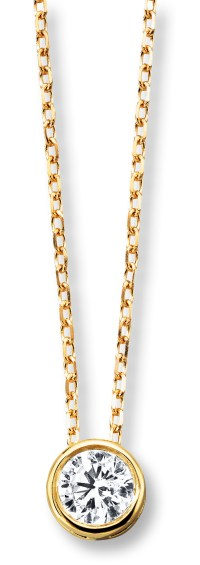 Jared Solitaire Diamond Necklace in Yellow Gold