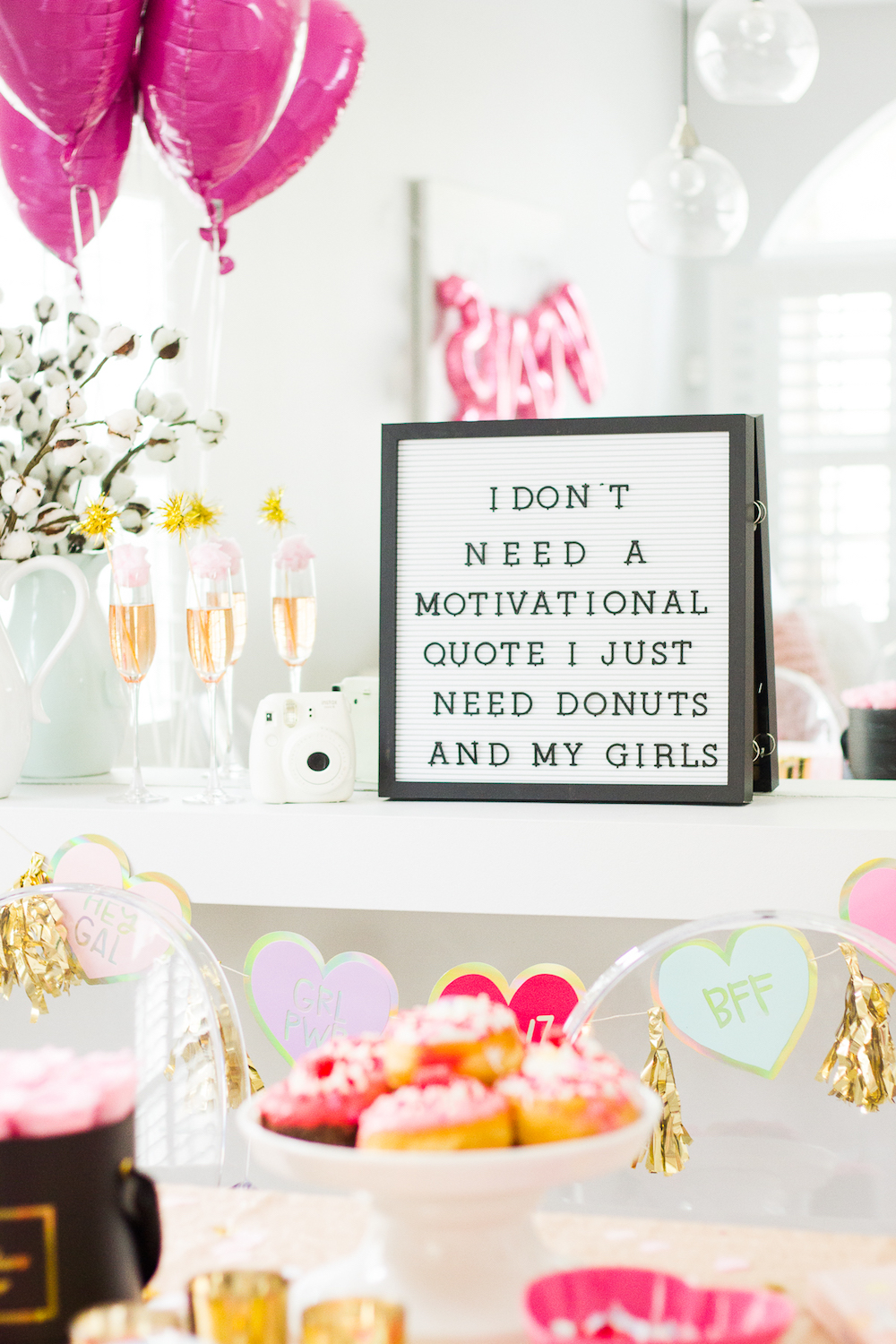 Galentine's Day letterboard