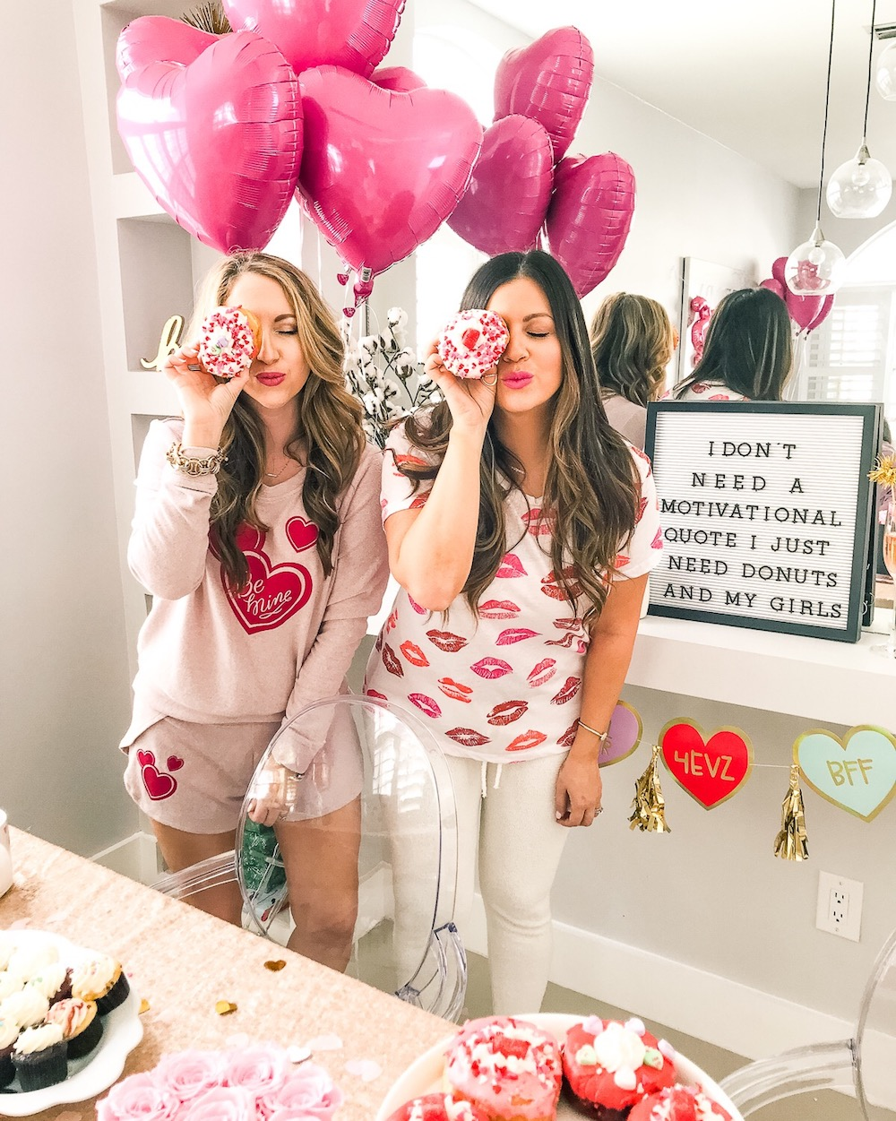 Valentine's day lips tee, Valentine's day pajamas