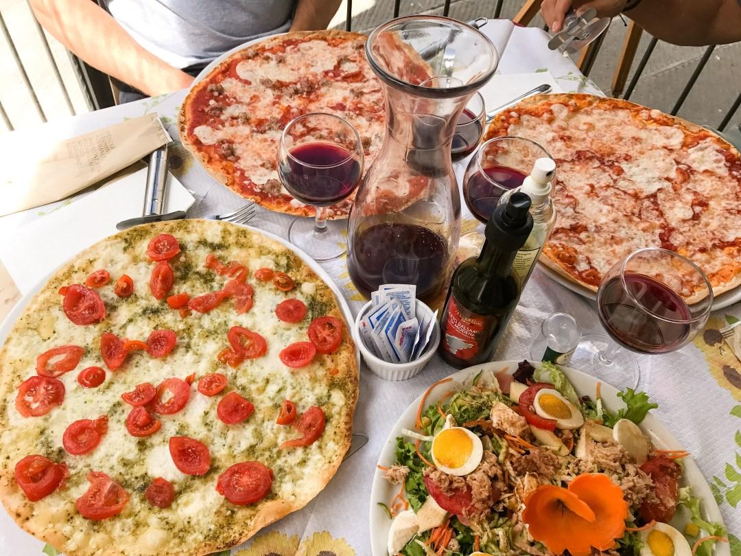 tuscany peccioli pizza