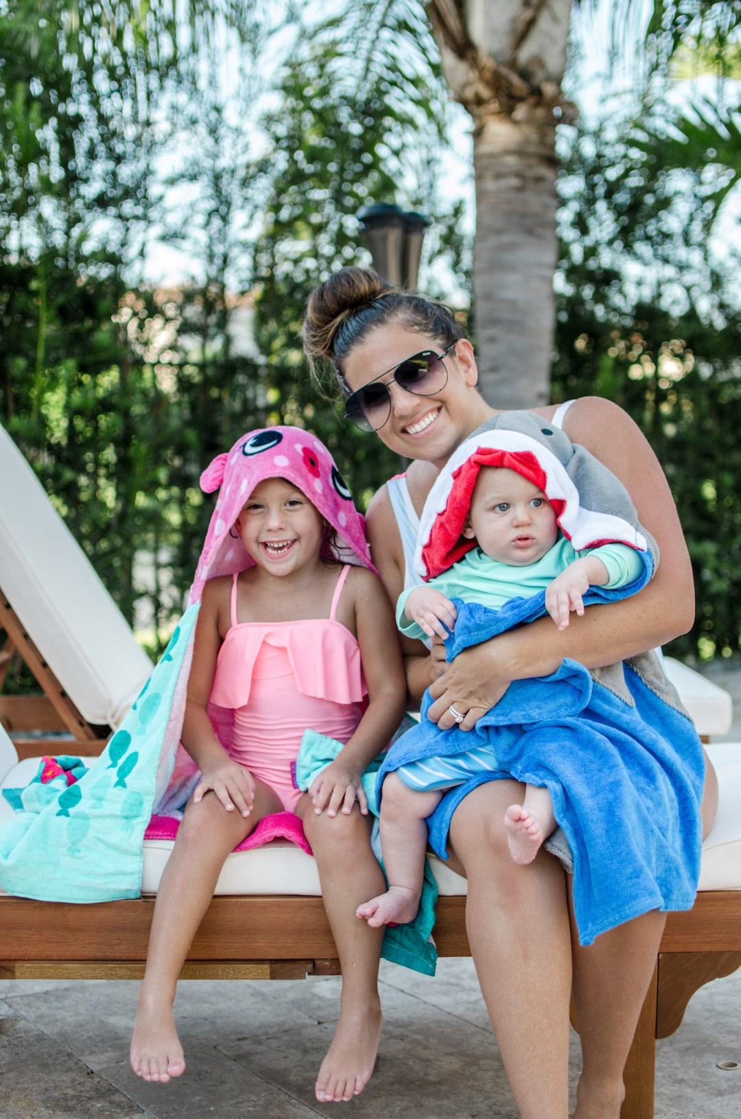 baby shark towel, hooded baby towel, hooded kids towel, Three Easy Ways to Keep Kids Safe During Pool Time