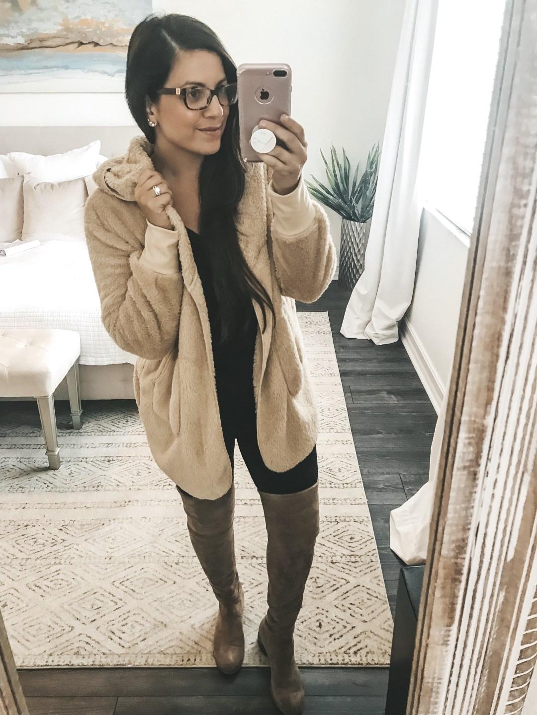 Amazon Fashion cozy jacket, cozy cardigan, oversized hooded cardigan