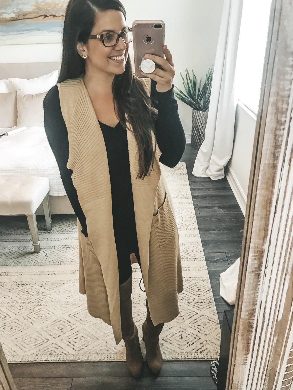 Amazon Fashion sweater vest, Jaime Cittadino Florida Blogger