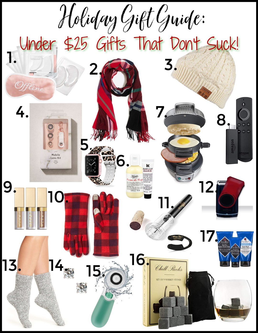 Holiday Gift Guide, Under $25 gifts that don't suck