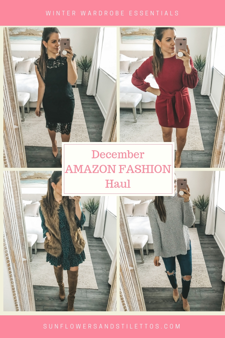 December Amazon Fashion Haul, Amazon Fashion Dresses, Cute Affordable Holiday dresses