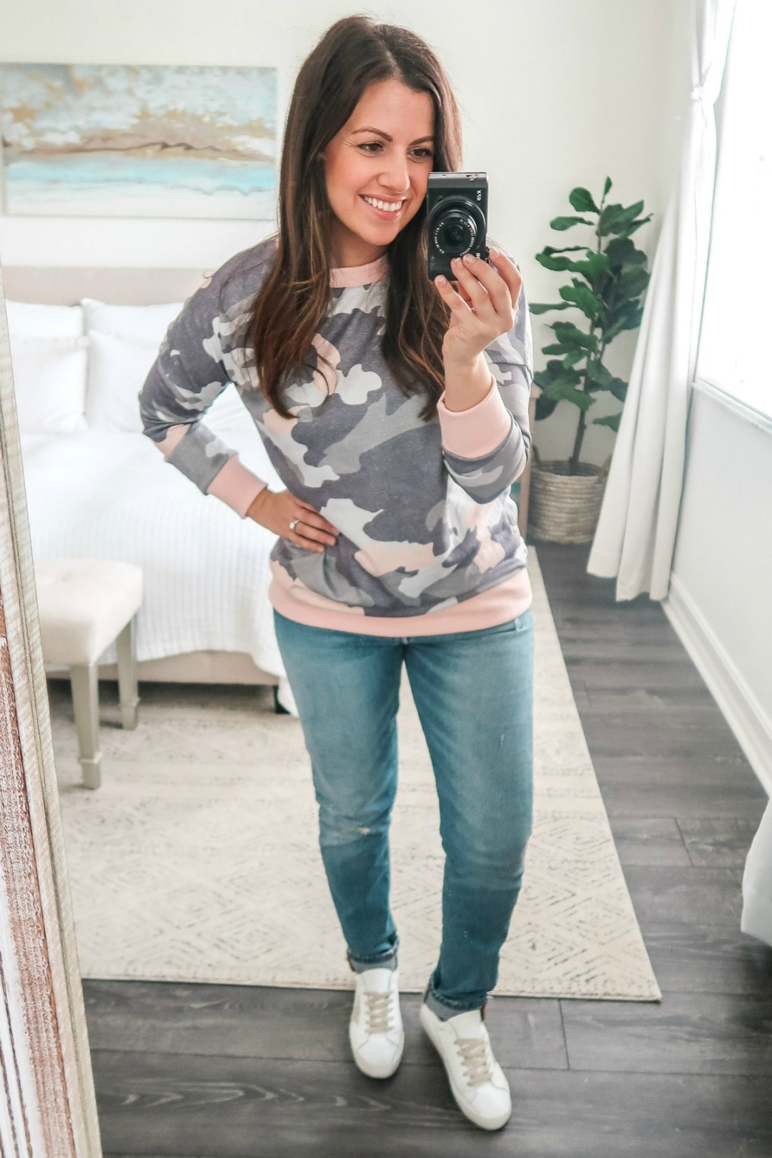 January Amazon Fashion camo top camo sweatshirt, pink camo, pink camo top