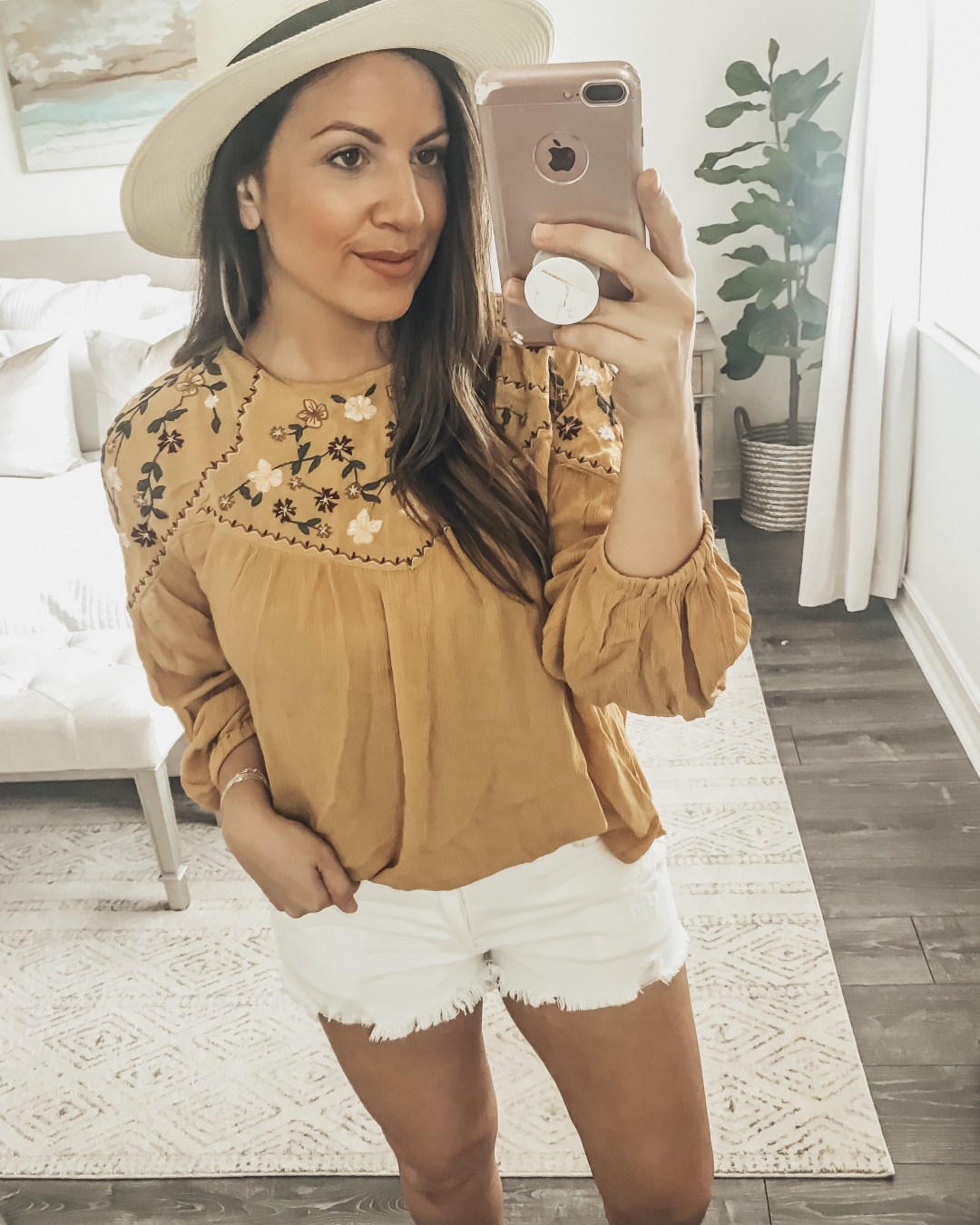 Boho Embroidered Long Sleeve Top, Amazon Fashion