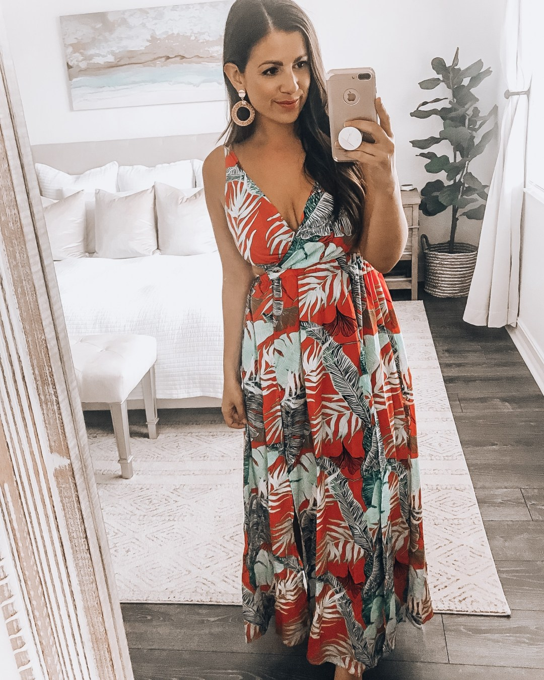 Amazon tropical maxi dress, tropical vacation maxi dress