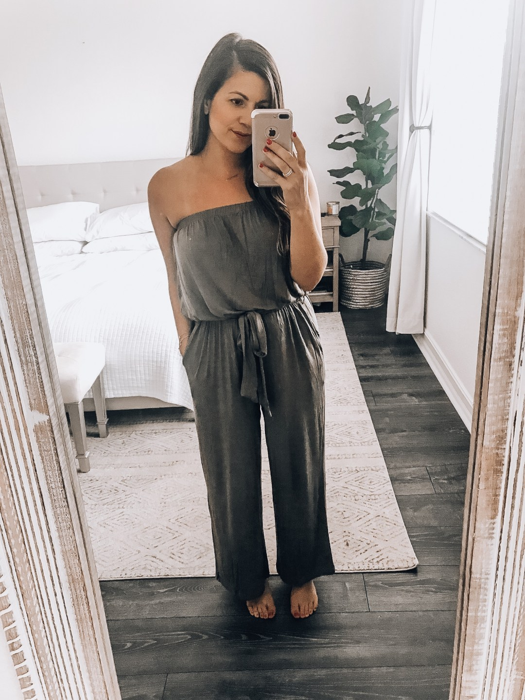 wide leg jumpsuit, strapless jumpsuit, Amazon fashion jumpsuit