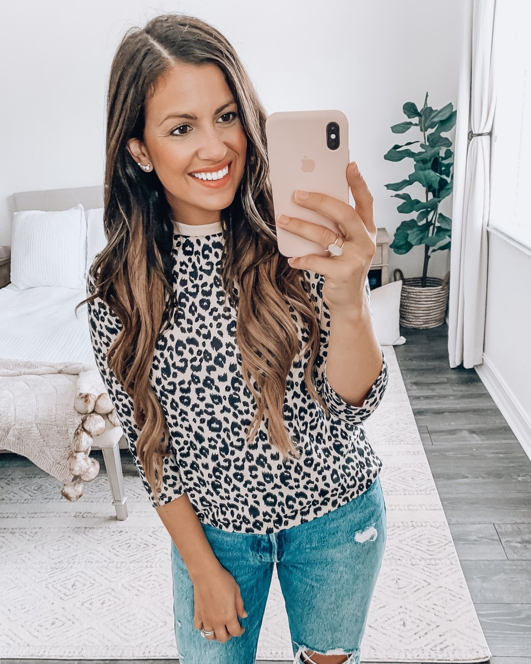 Amazon Fashion leopard 3:4 sleeve, leopard tee, long sleeve leopard tee