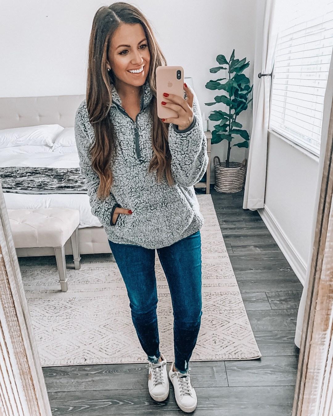 Amazon fleece pullover, fleece quarter zip sweatshirt