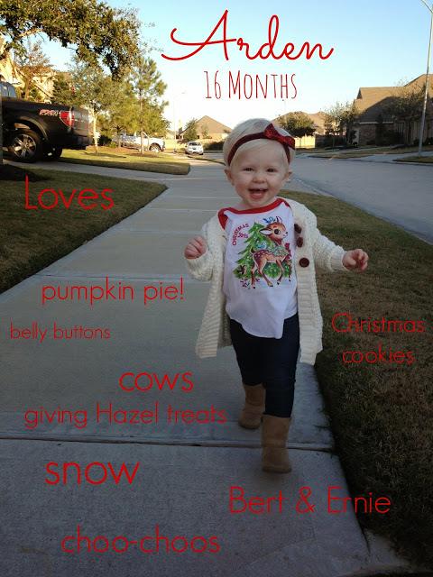 Arden: 16 Months!