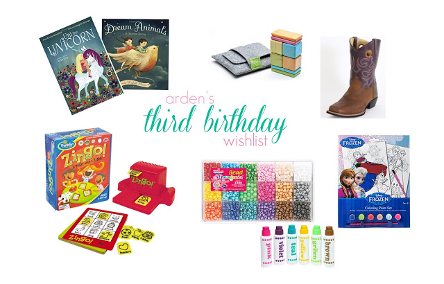 3rd Birthday WISH List