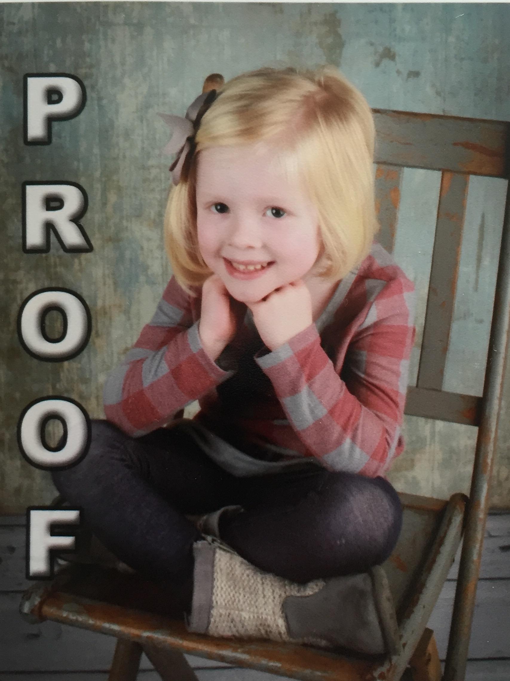 Arden's preschool photo
