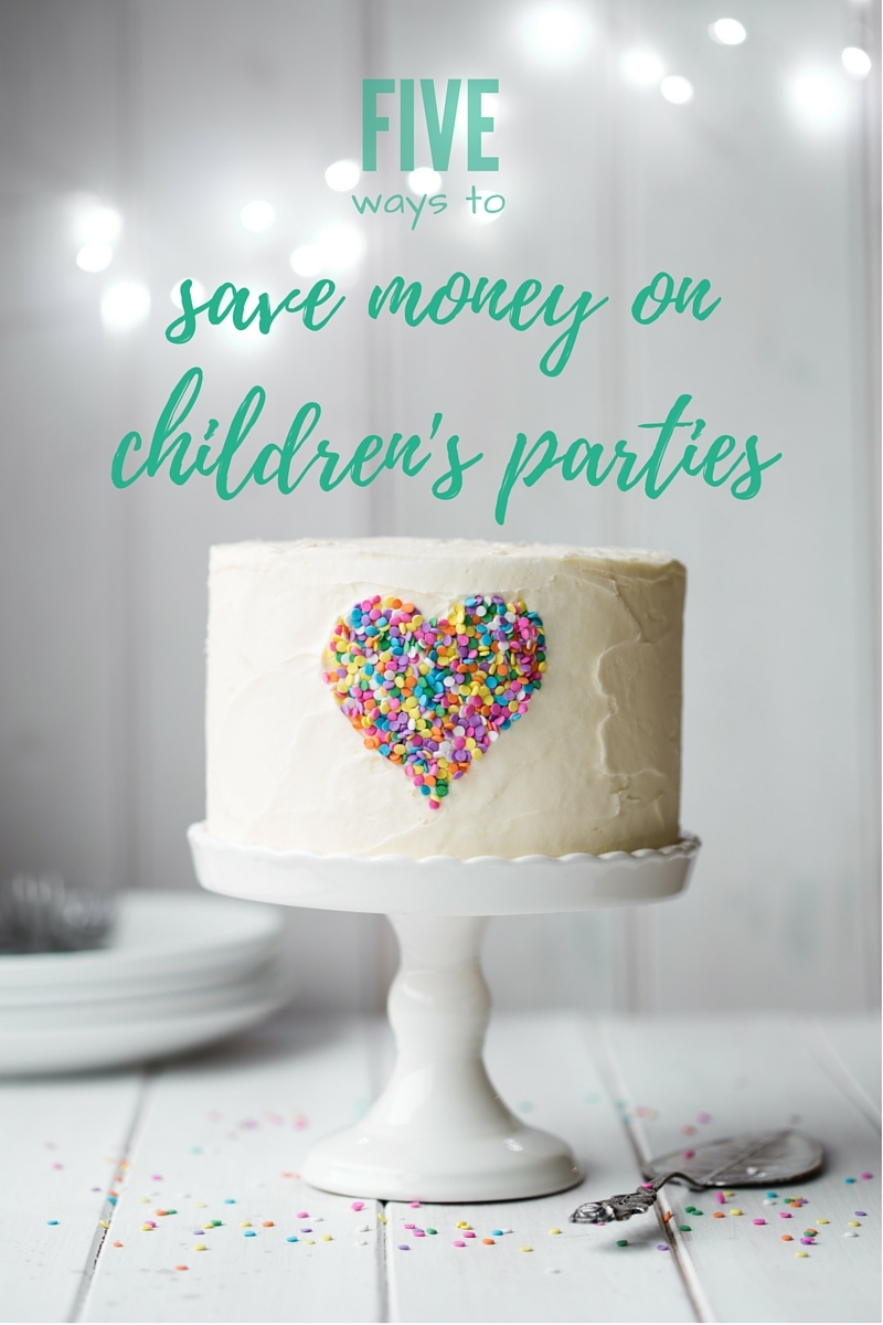 5 ways to save money on children's birthday parties