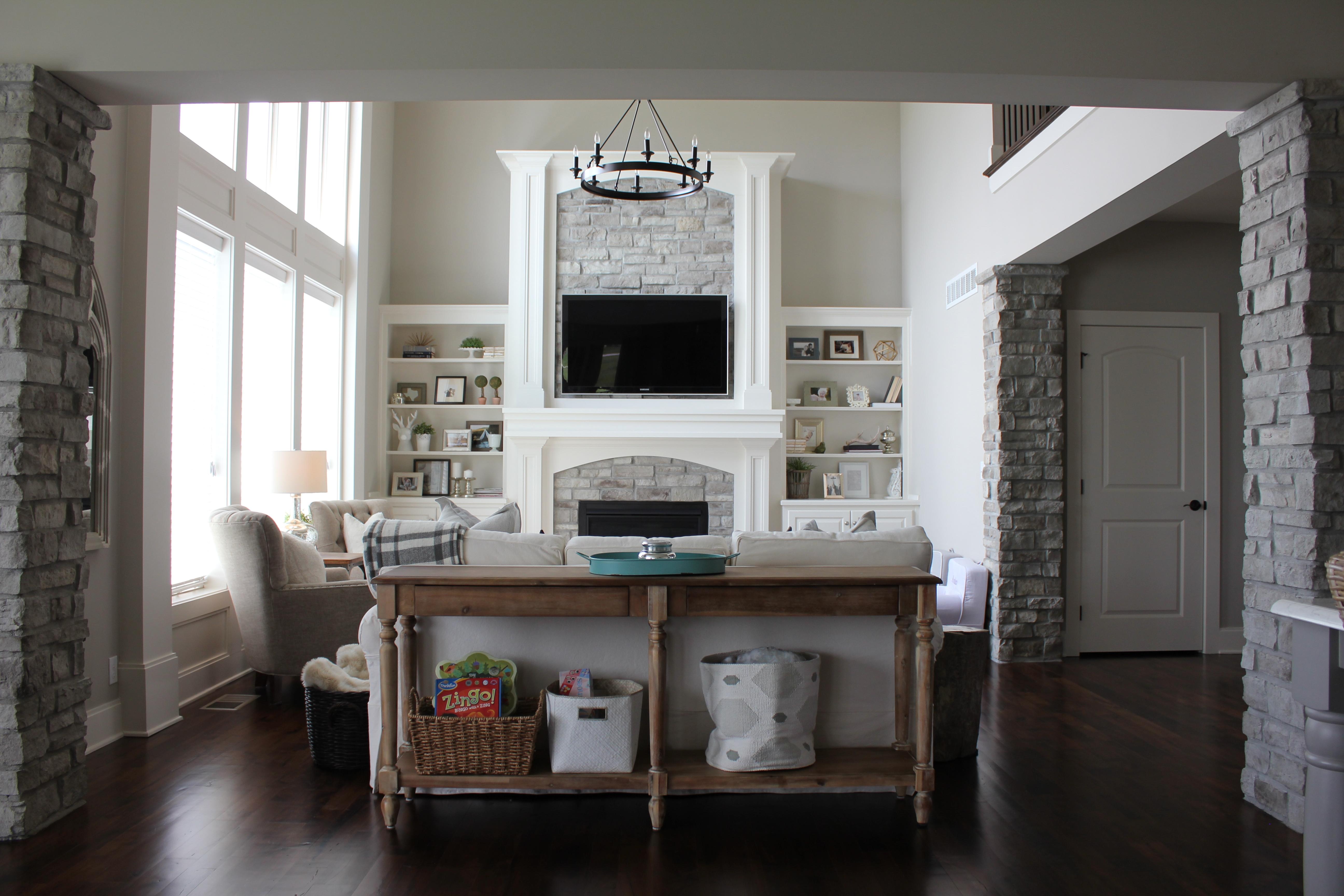 white open living room
