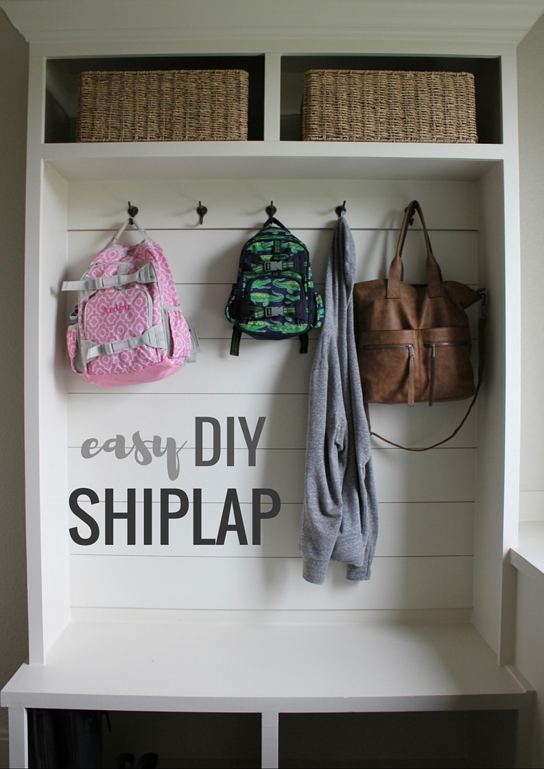 Easy DIY Shiplap Tutorial