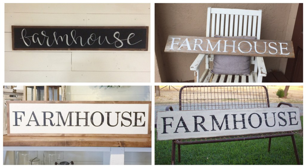 farmhouse wooden signs