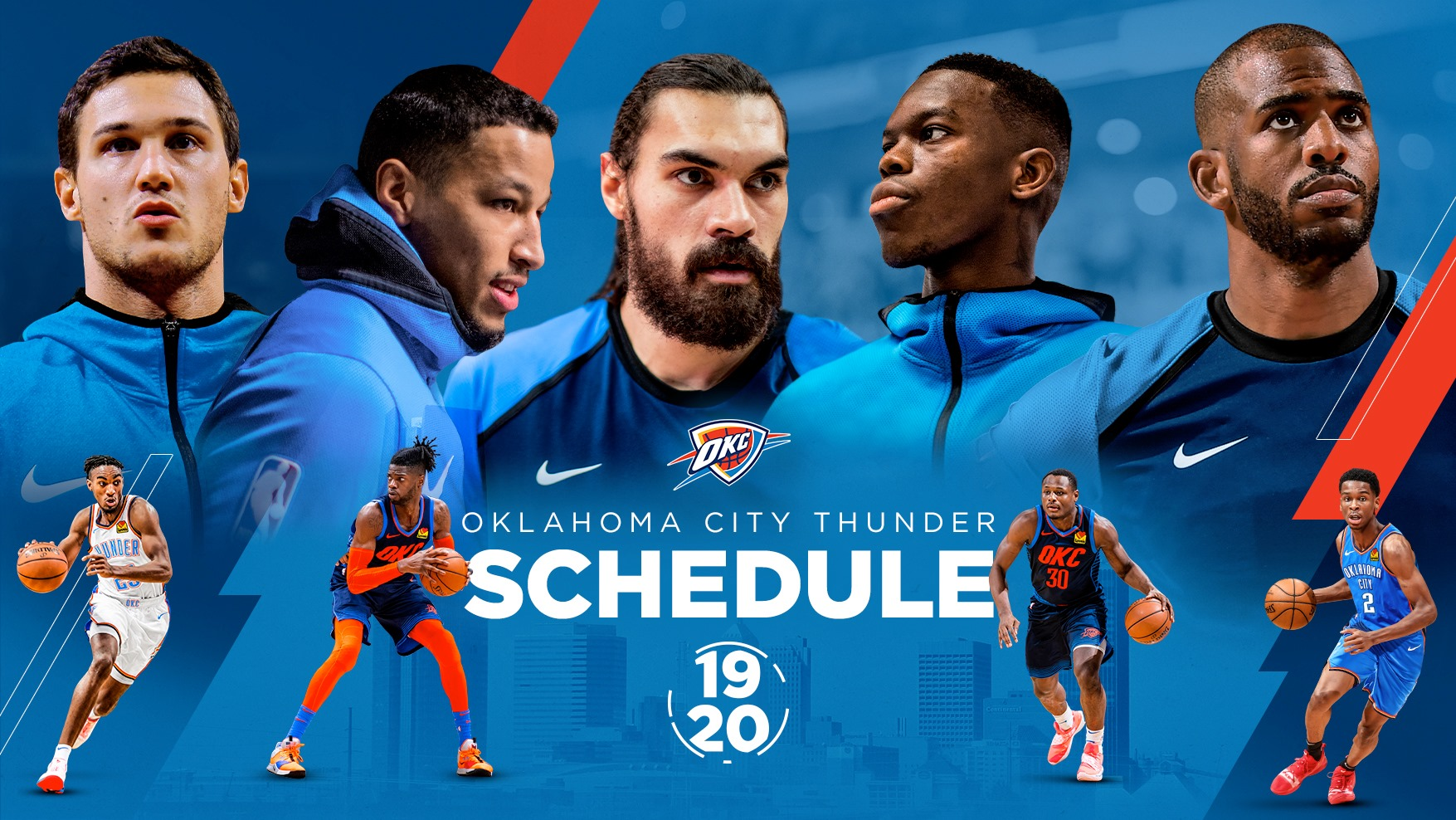 graphic about Okc Thunder Printable Schedule called Okc Thunder Timetable 2020 Plan 2020