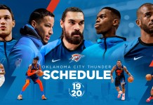Okc Schedule 2020 OKC Thunder Announces 2019 2020 Schedule | Sunflower State Radio