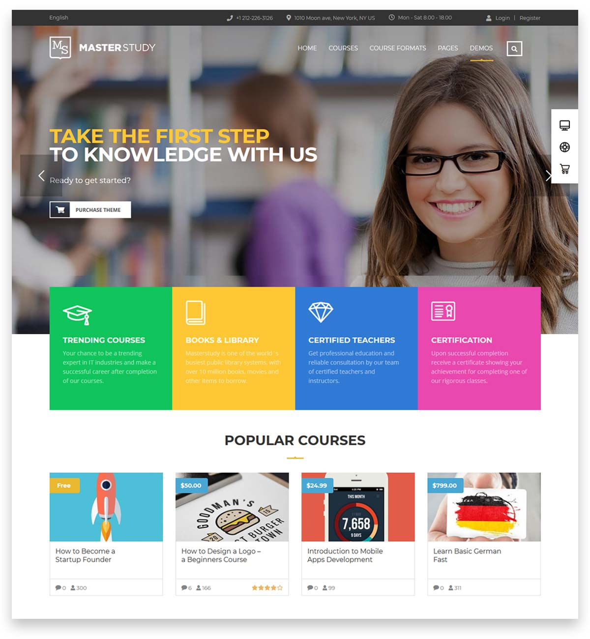 Education WordPress Theme - Masterstudy for selling online online courses