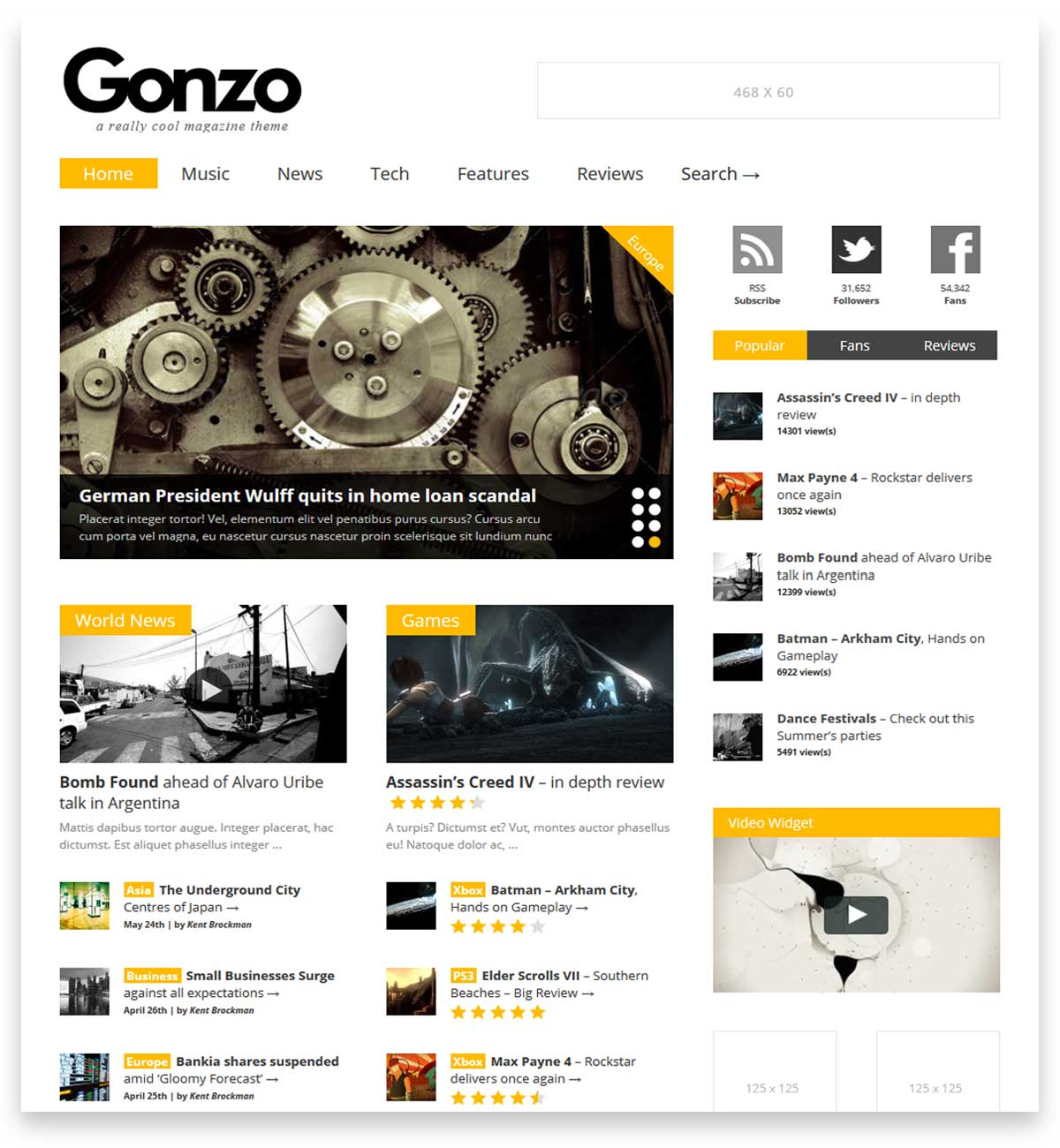 Gonzo - Clean, Responsive WP Magazine theme