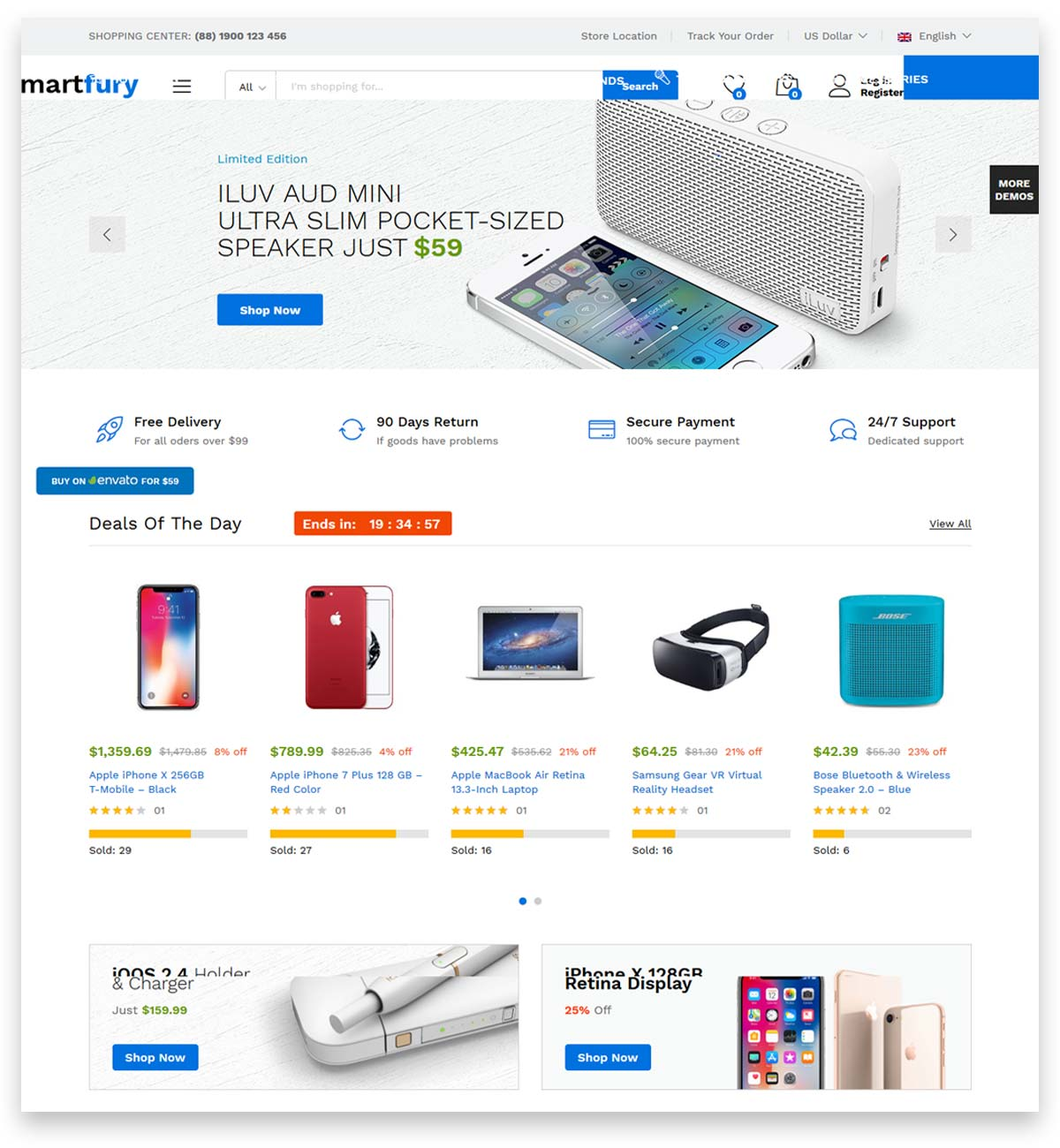 Martfury - WooCommerce Marketplace WordPress Theme for Drop Shipping website