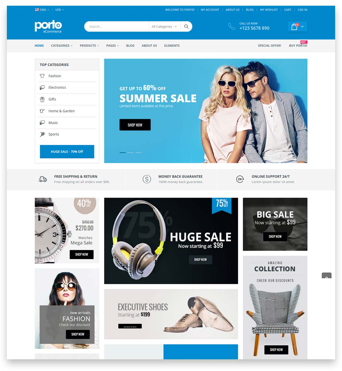Porto | Multipurpose & WooCommerce Theme for building Online shop