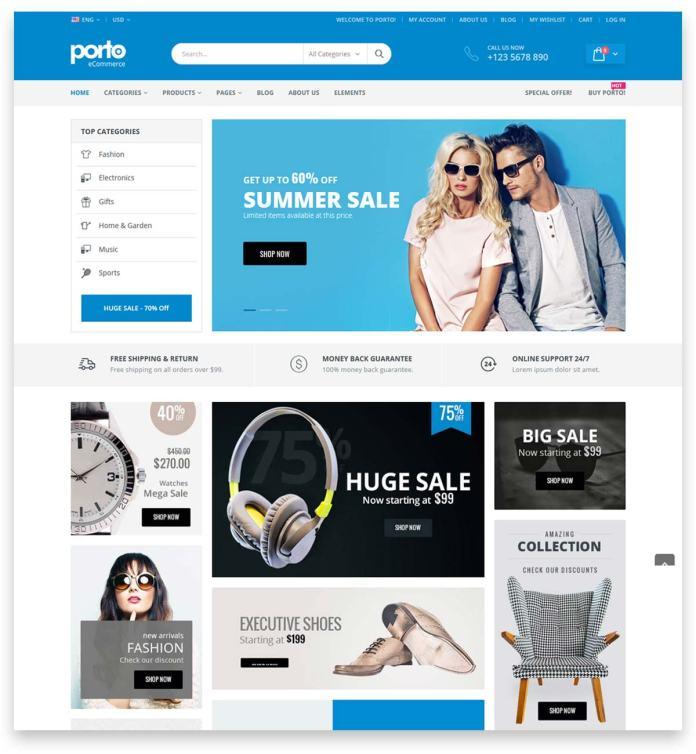Porto   Multipurpose & WooCommerce Theme for building Online shop