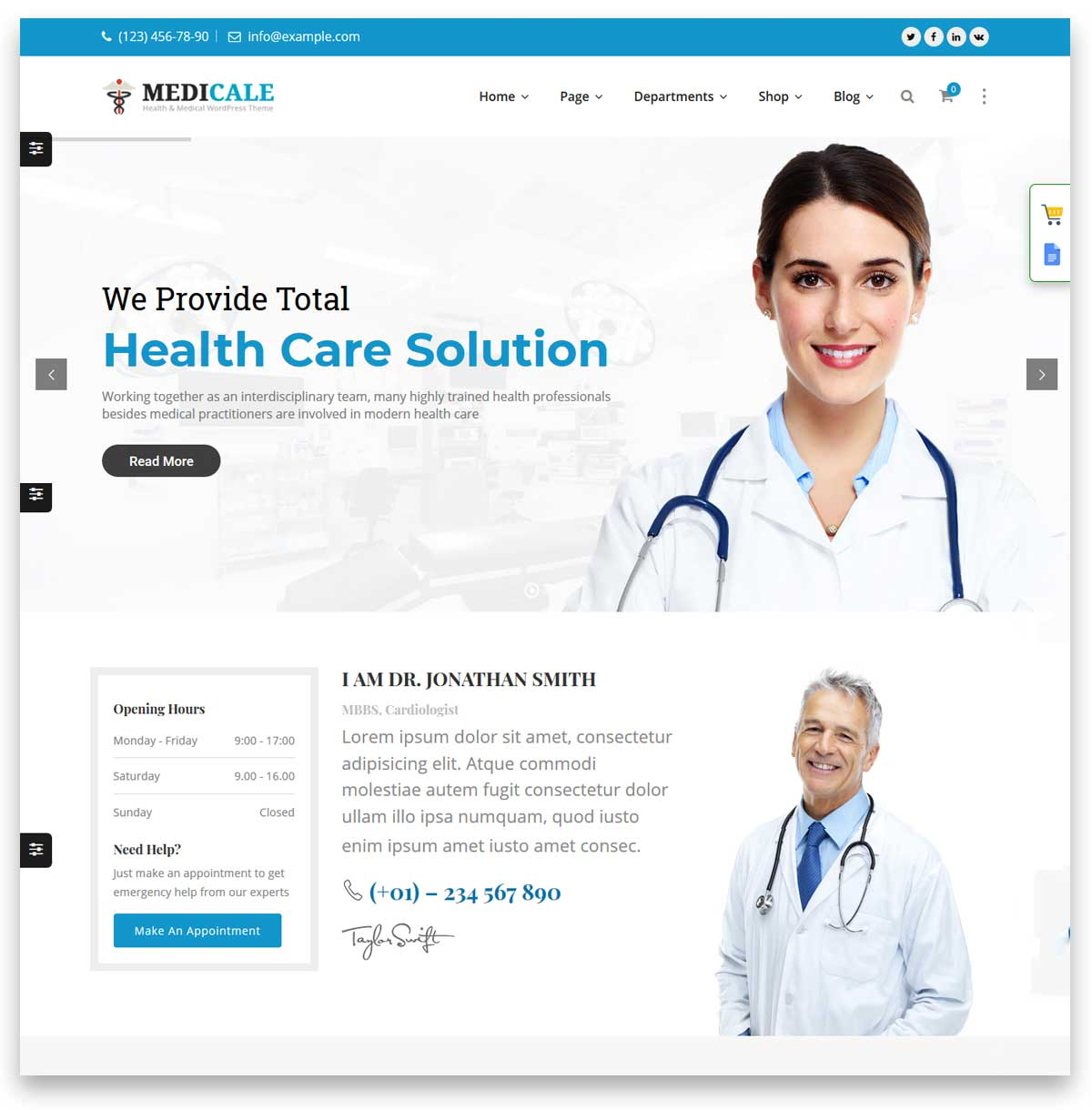 Medical & Dentist WordPress Theme - Dental Clinic