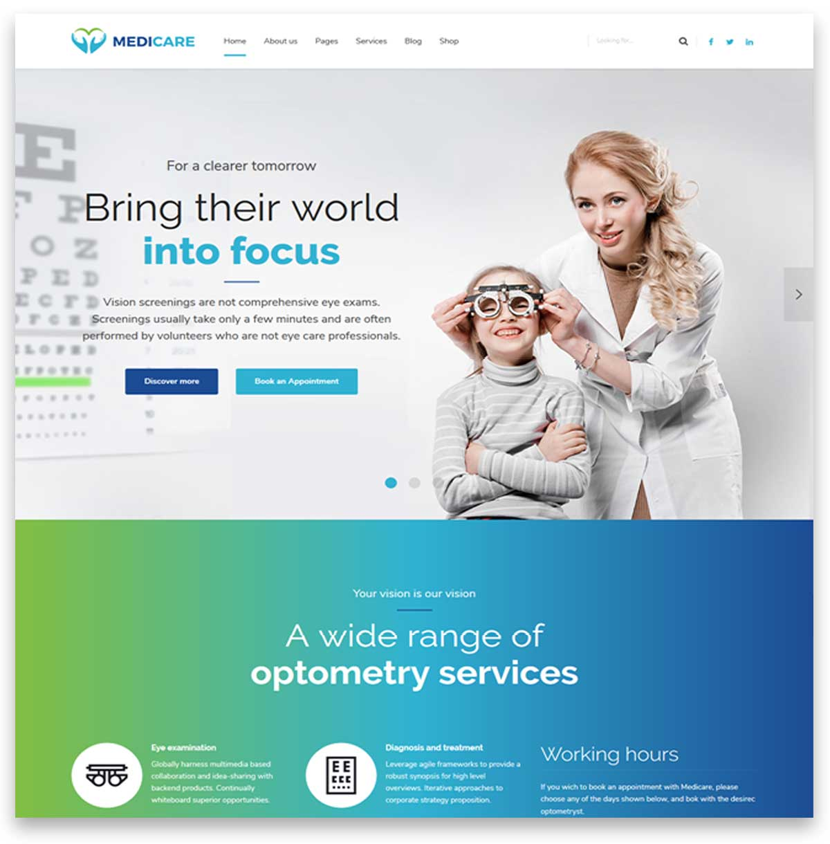 Medicare - Doctor, Medical & Health wordpress theme