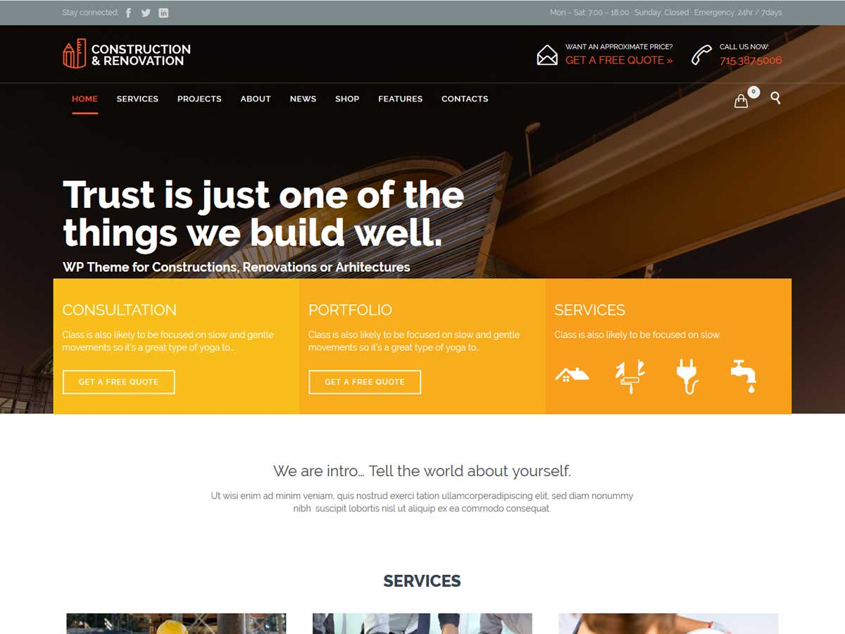 Construction - Building WordPress is a very transparent and smart theme.