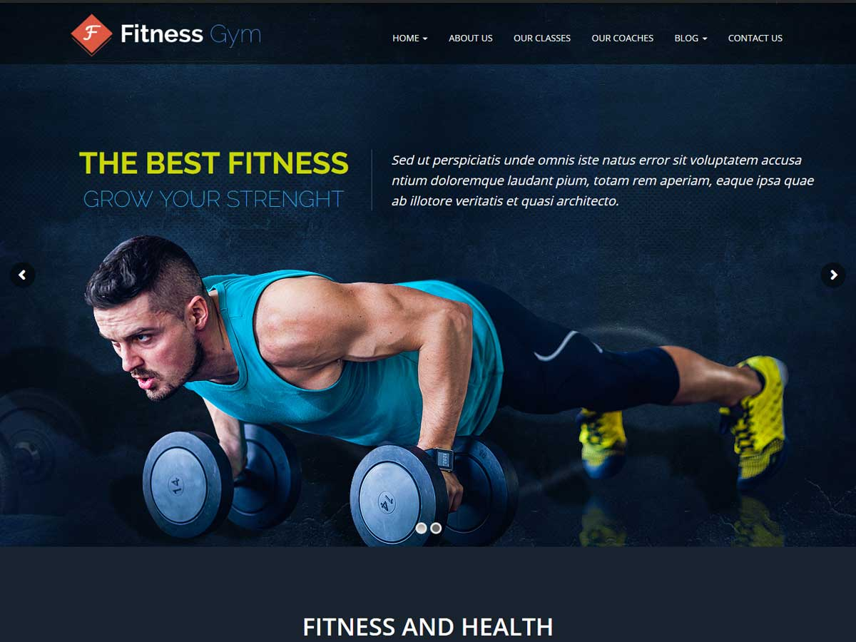 Fitness Gym is a clean & modern design WordPress theme