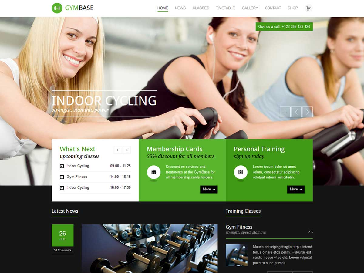 GymBase - Responsive Gym Fitness WordPress Theme list of the best responsive gym sport & fitness club WordPress theme