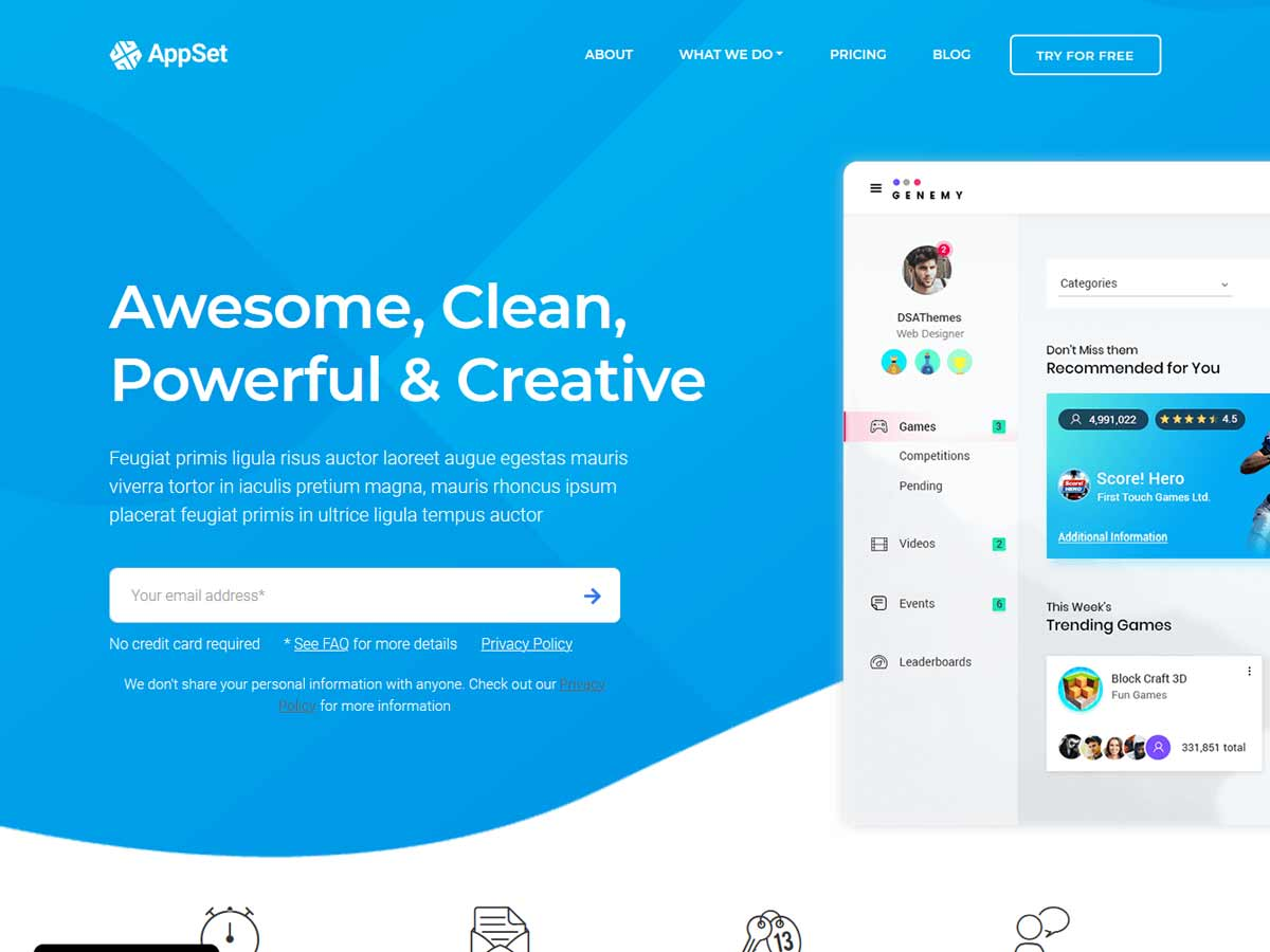 Appset - App landing WordPress Theme