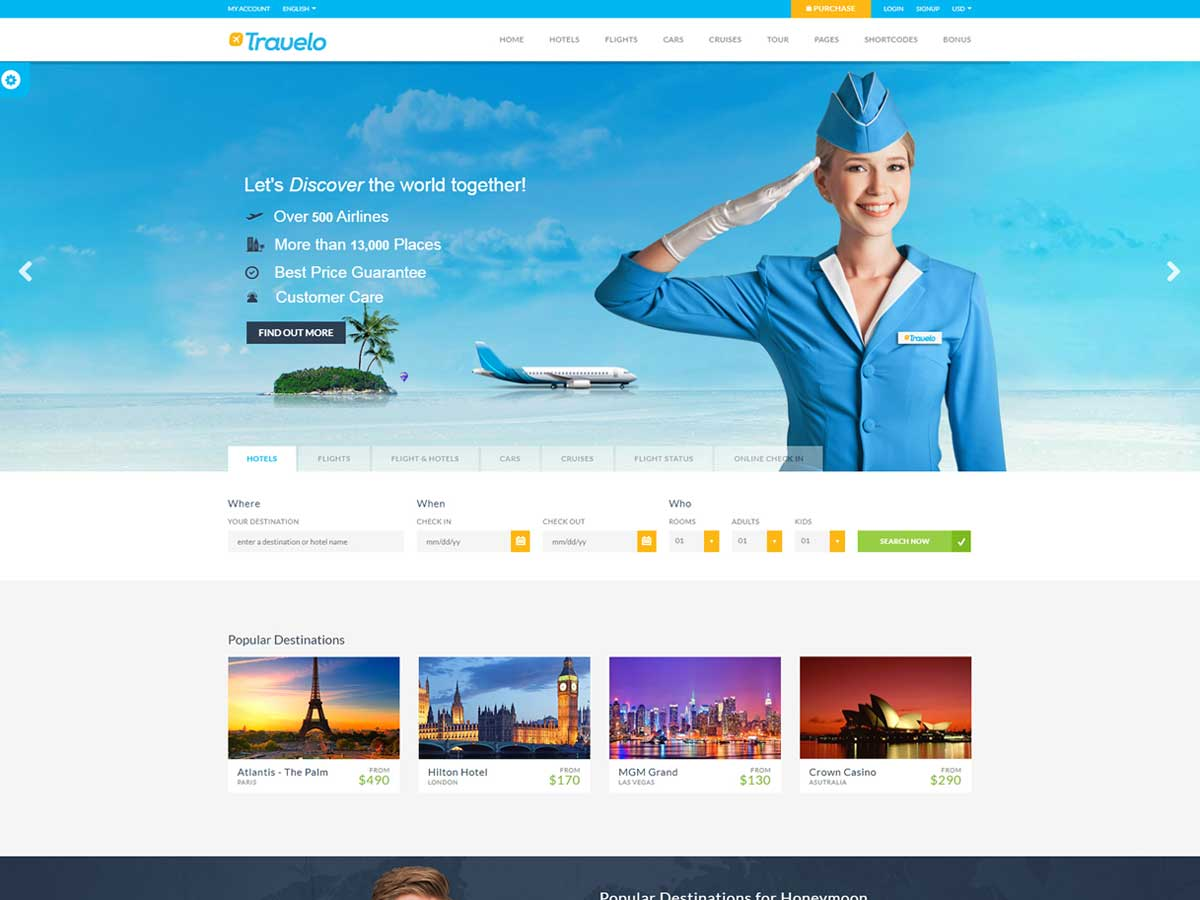 Travelo - Travel/Tour Booking Responsive WordPress Theme