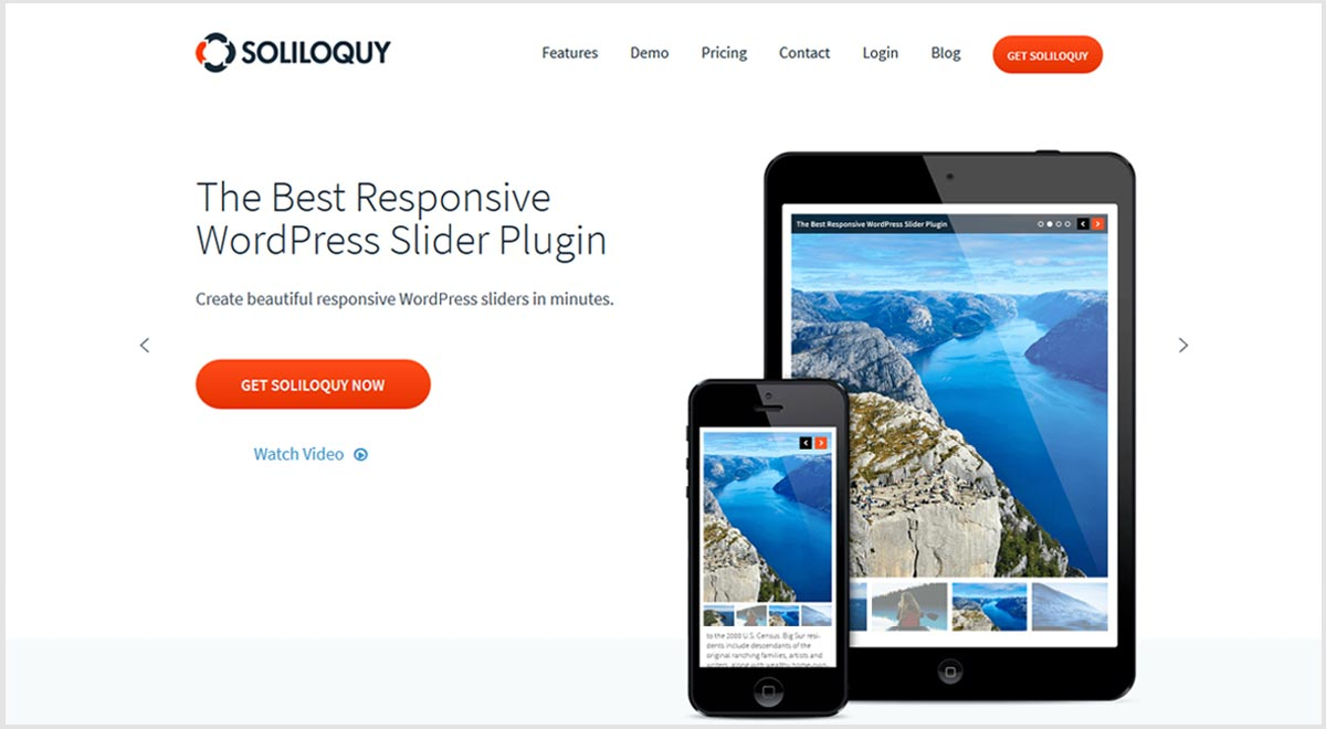 Soliloquy best slider plugins for WordPress