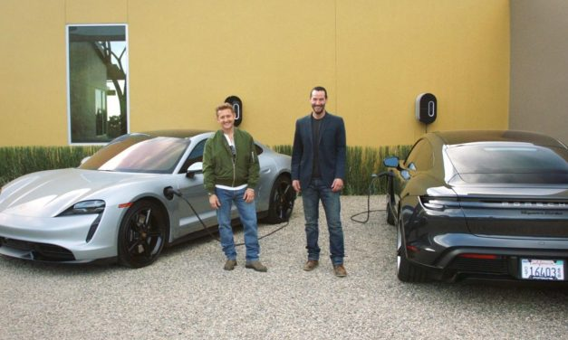 Watch Keanu Reeves And Alex Winter Drive The Porsche Taycan