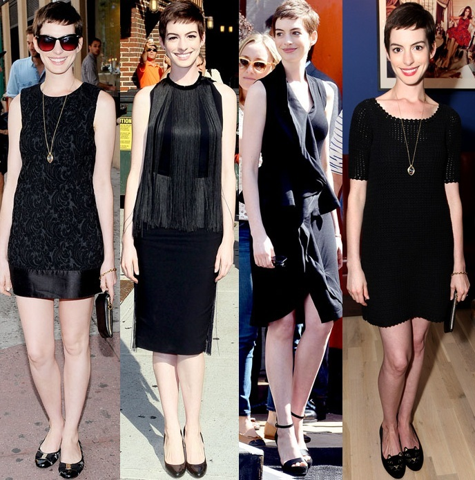 Black Cocktail Dresses with Flats