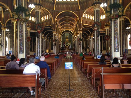 Interior of Basilica of our Lady of the Angels in Cartago, Costa Rica