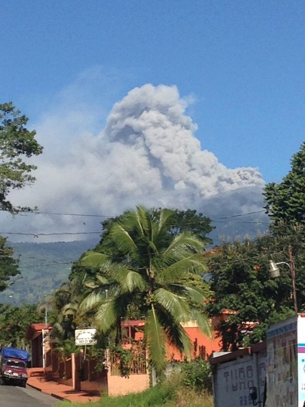 "From Turrialba, we could see the Turrialba Volcano spewing steam and ash. I think this must be to the Costa Ricans, like living on the San Andreas fault is to Californias... ""Sure, something could happen, but in the meantime, we're living life."""