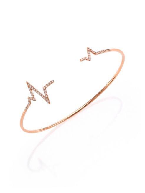 Diane-Kordas-Diamond-18K-Rose-Gold-Heartbeat-Cuff-Bracelet