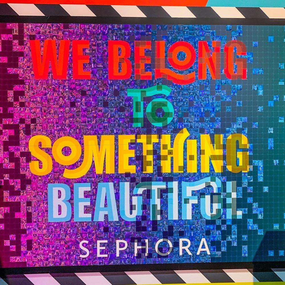 Sephoria We being to Something Beautiful Mural