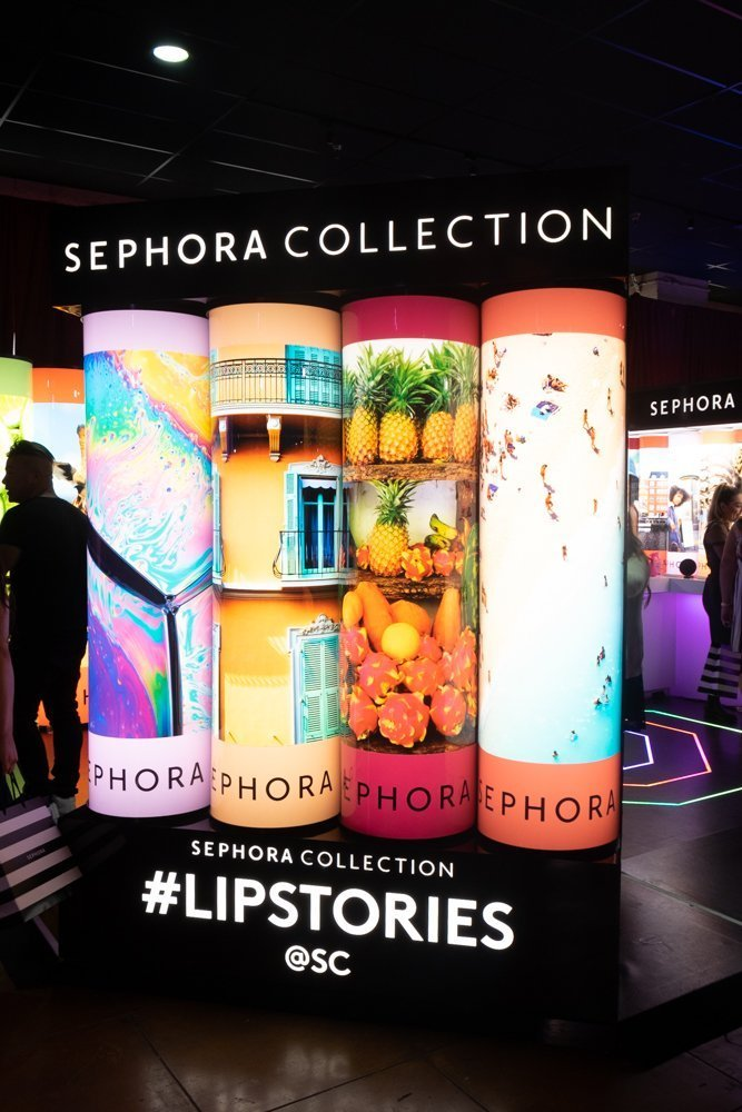 Sephora Collection booth in Lip Lounge at Sephoria House of Beauty