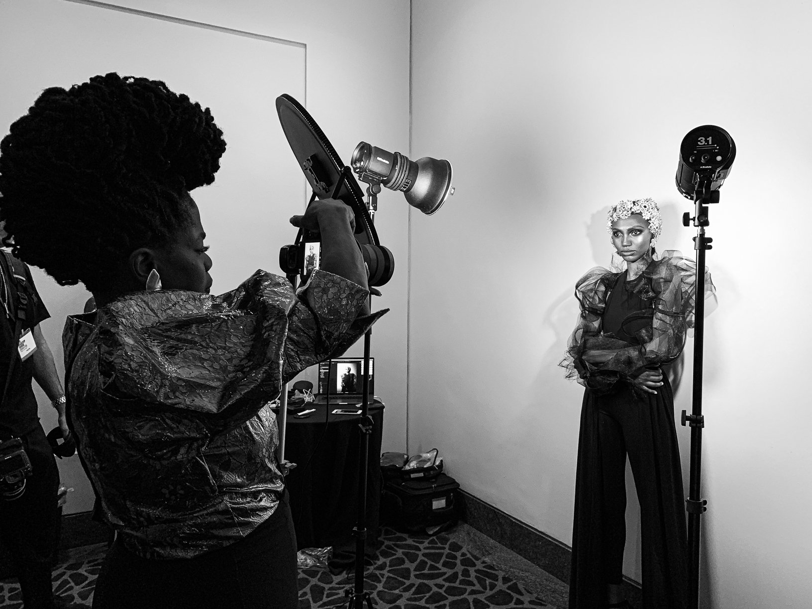 Behind the scenes at The Makeup Show, Houston, TX: Danessa Myricks photoshoot