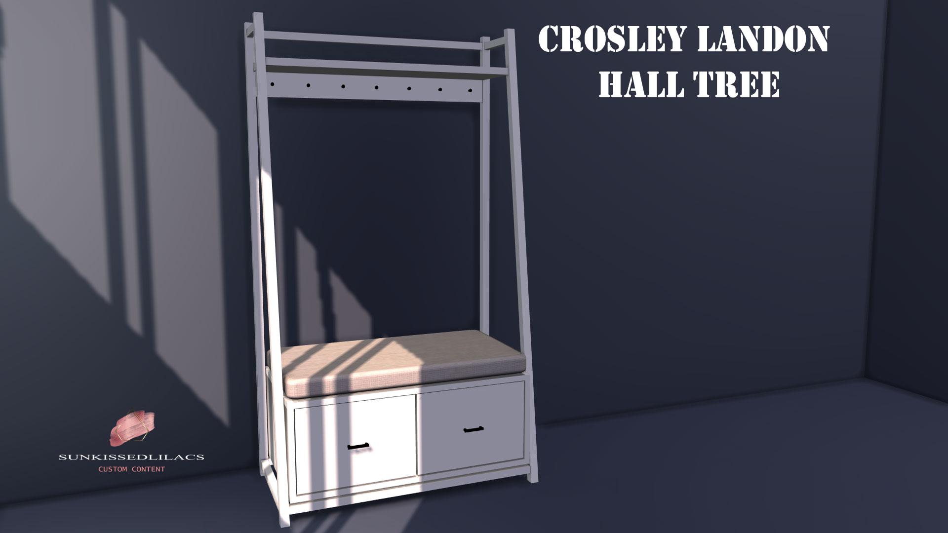 Crosley Landon Hall Tree, sunkissedlilacs-simms-4-custom-content