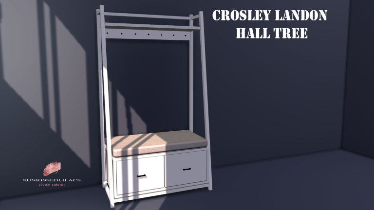 Crosley Landon Hall Tree, sunkissedlilacs-simms-4-custom-content