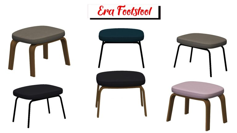 Era Footstool, high quality sims 4 cc, sunkissedlilacs, free sims 4 furniture, sims 4 custom content,