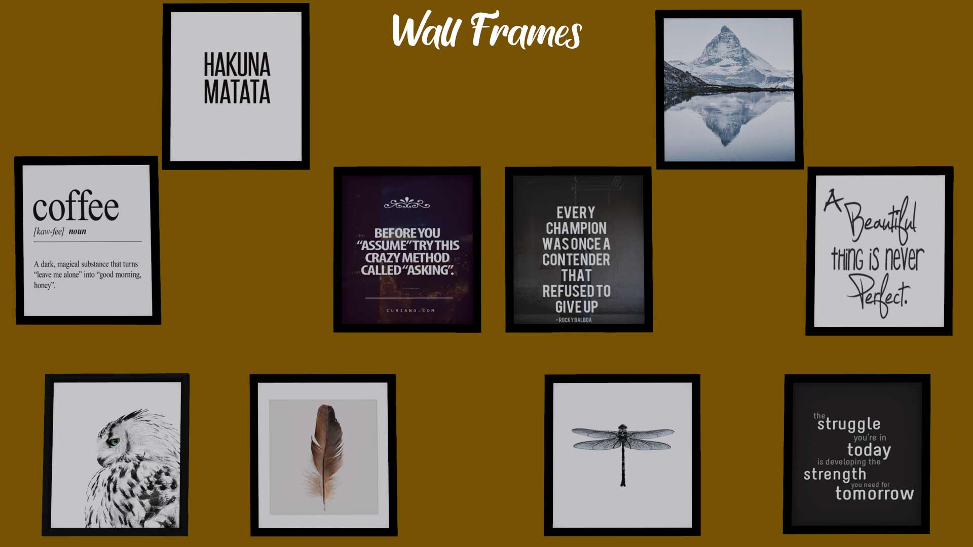 Frames Pack, high quality sims 4 cc, sunkissedlilacs, free sims 4 decor, sims 4 custom content,